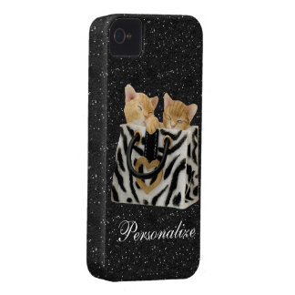 Coque iPhone 4 Chatons dans le cas de l'iPhone 4 de parties
