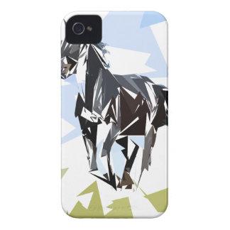 Coque iPhone 4 Cheval noir