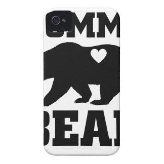 Coque iPhone 4 Citation de cadeau d'ours de mamans la meilleure