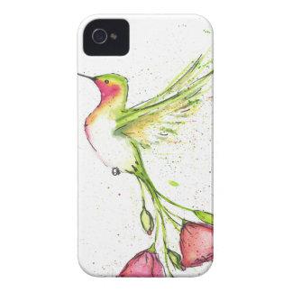 Coque iPhone 4 colibri de queue de fleur