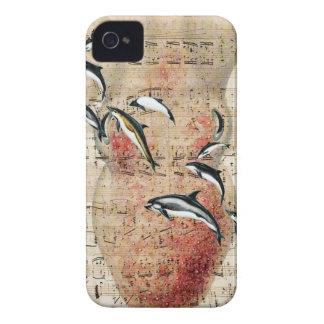 Coque iPhone 4 Collage de dauphins de poulpe