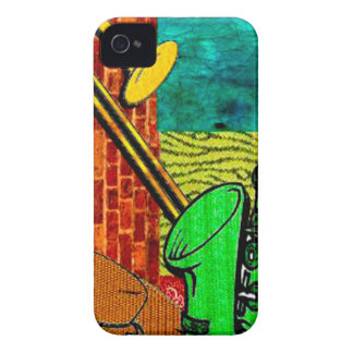 Coque iPhone 4 Collage terreux de jazz