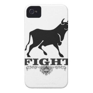 Coque iPhone 4 combat de taureau noir
