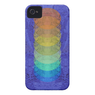 Coque iPhone 4 Conception de tapisserie de Chakra de yoga
