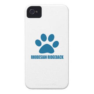 COQUE iPhone 4 CONCEPTIONS DE CHIEN DE RHODESIAN RIDGEBACK