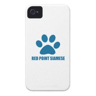 COQUE iPhone 4 CONCEPTIONS ROUGES DE CAT SIAMOIS DE POINT