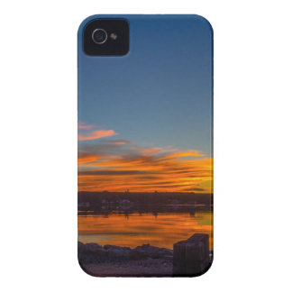 Coque iPhone 4 Coucher du soleil de baie de Liverpool