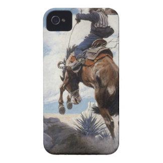 Coque iPhone 4 Cowboys occidentaux vintages, s'opposant par OR