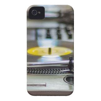 Coque iPhone 4 Cru de vinyle de plaque tournante rétro de bruit