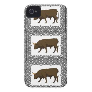 Coque iPhone 4 cubes bruns en taureaux