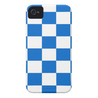 Coque iPhone 4 Damiers bleus et blancs