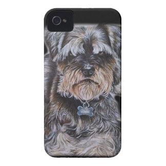 Coque iPhone 4 Dessin d'art de chien de Terrier
