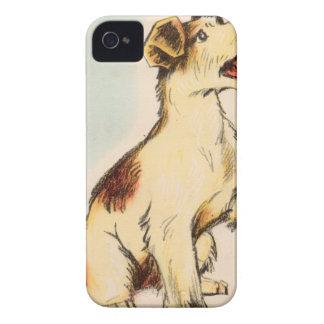 Coque iPhone 4 Dessin vintage de chien d'écorcement