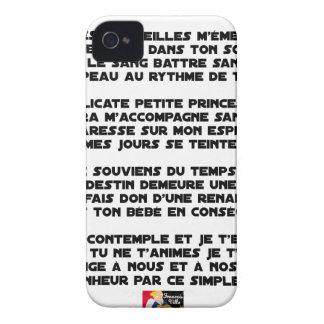 Coque iPhone 4 DORS - Poème - Francois Ville