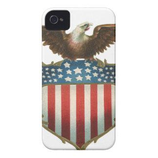 Coque iPhone 4 Eagle patriotique et chauve vintage avec le