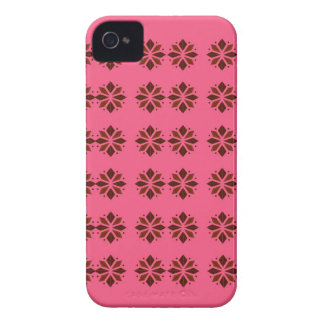 Coque iPhone 4 Éléments de conception sur le rose