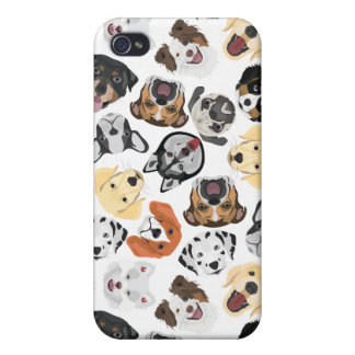 Coque iPhone 4 Et 4S Chiens de motif d'illustration