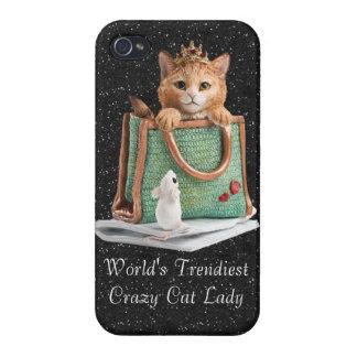 Coque iPhone 4 Et 4S Madame folle la plus à la mode princesse Kitten du