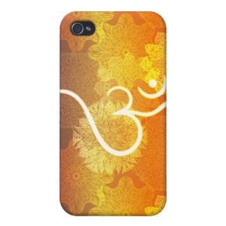 Coque iPhone 4 Et 4S Motif indien d'ornement avec le symbole d'ohm