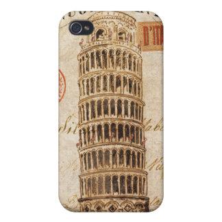 Coque iPhone 4 Et 4S Tour penchée vintage de Pise