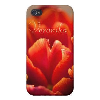 Coque iPhone 4 Et 4S Tulipe rouge