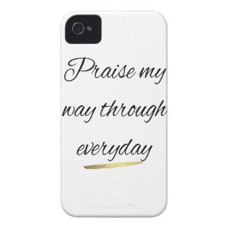 Coque iPhone 4 Félicitez ma voie par quotidien