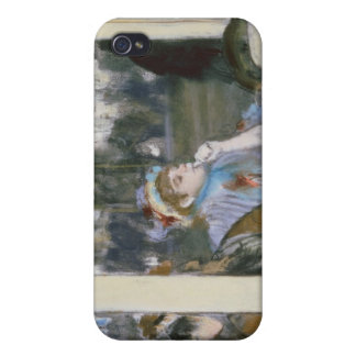 Coque iPhone 4 Femmes d'Edgar Degas | sur une terrasse de café,