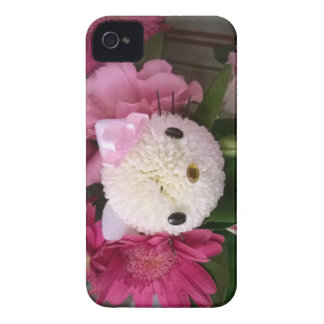 Coque iPhone 4 Fleur Kitty