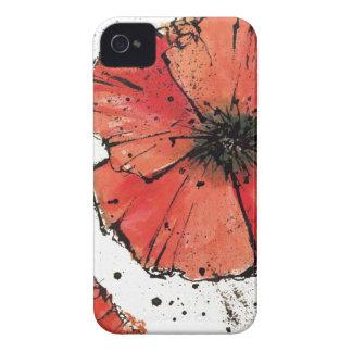 Coque iPhone 4 Fleur sur un arrière - plan blanc