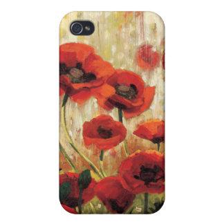 Coque iPhone 4 Fleurs de ressort dans un jardin