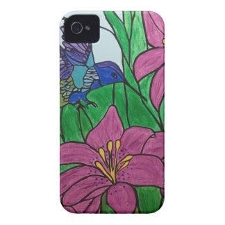 Coque iPhone 4 Fleurs d'oiseau de ronflement