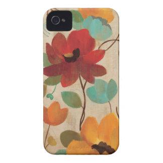 Coque iPhone 4 Fleurs et bourgeons colorés