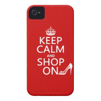 Coque iPhone 4 Gardez le calme et faites des emplettes dessus -