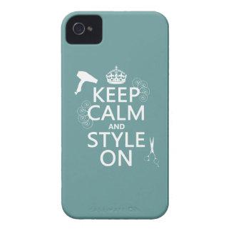 Coque iPhone 4 Gardez le calme et le style sur (toute couleur