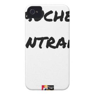 Coque iPhone 4 GAUCHER, CONTRARIÉ - Jeux de mots - Francois Ville