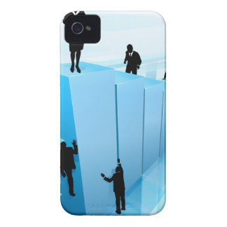 Coque iPhone 4 Gens d'affaires de silhouettes de concept de