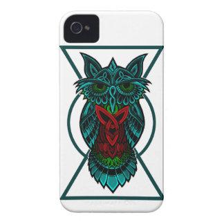 Coque iPhone 4 Géométrique celtique de hibou