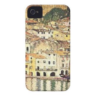 Coque iPhone 4 Gustav Klimt - Malcesine sur le policier de lac