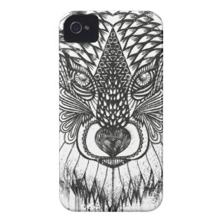 Coque iPhone 4 Illustration de mandala de loup