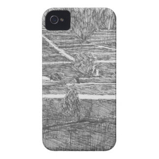 Coque iPhone 4 Illustration rurale de Honshu Japon