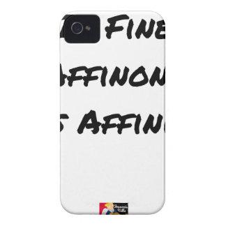 Coque iPhone 4 IN FINE, AFFINONS NOS AFFINITÉS - Jeux de mots