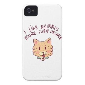 Coque iPhone 4 J'aime des animaux davantage que des personnes,