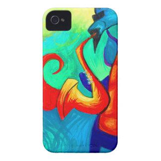 Coque iPhone 4 Joueur de saxophone de dragon