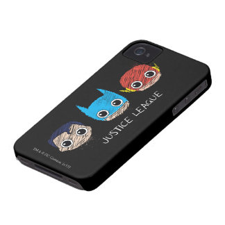 Coque iPhone 4 La mini ligue de justice dirige le croquis