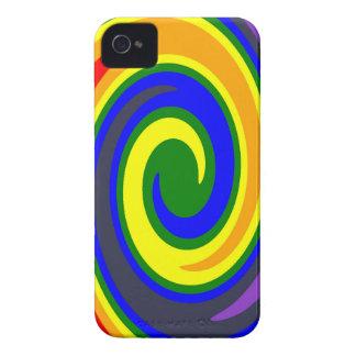 Coque iPhone 4 La pirouette ondule l'arc-en-ciel de couleurs,