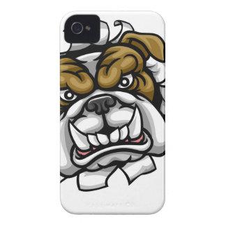 Coque iPhone 4 Le base-ball de bouledogue folâtre la mascotte