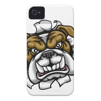 Coque iPhone 4 Le bowling de bouledogue folâtre la mascotte
