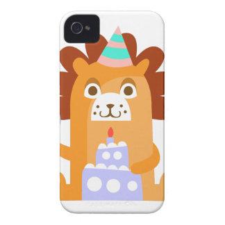 Coque iPhone 4 Le lion avec la partie attribue génial stylisé