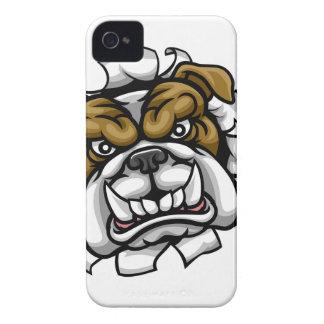 Coque iPhone 4 Le tennis de bouledogue folâtre la mascotte