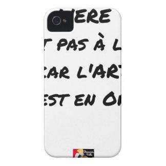 COQUE iPhone 4 L'ÈRE N'EST PAS À L'IRE, CAR L'ART EST EN OR